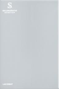 Lakované sklo - Lacomat bílý