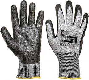 Pracovní rukavice RAZORBIL, nitril na dlani a prstech, vel. 8