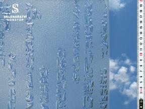 Ornamentní sklo - Farao mat